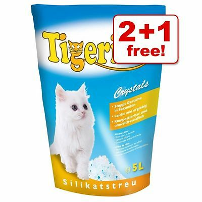 Cat Silica Crystals Litter 3 x 5l Mixed Pack 2 + 1 Free!