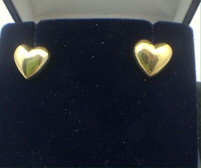 Tiffany & Co 18k Gold Heart Shaped Earrings