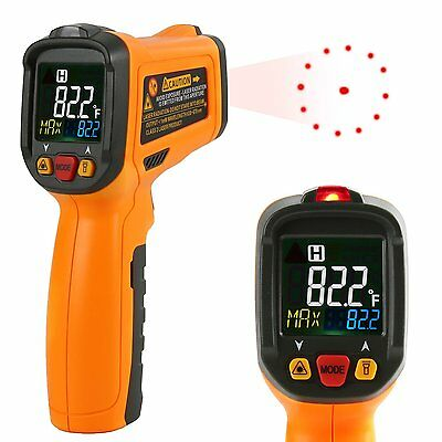 Digital Thermometer Janisa PM6530B Laser Infrared Thermometer Non Contact Sugar
