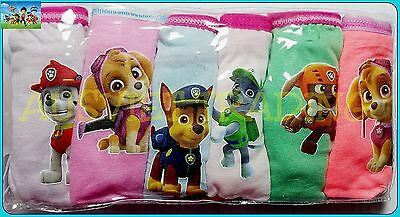 undies Paw Patrol knickers 6pc girls Briefs new cartoon panties cotton underwear