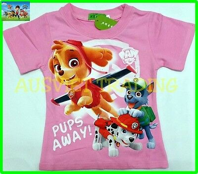 BNWT PAW Patrol Girls Top T-shirt Tshirt 100% cotton new release