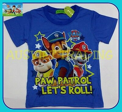 BNWT Paw Patrol T-Shirt boys kids children cartoon Top Tshirt new 100% cotton