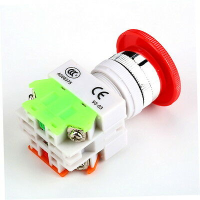 NC N/C Emergency Stop Switch Push Button Mushroom Push Button 4Screw Terminal H5