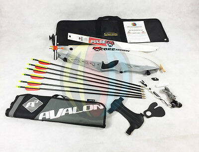 """Silver 70"""" RHD Core Archery Jet Take Down Recurve Bow & Complete Package"""