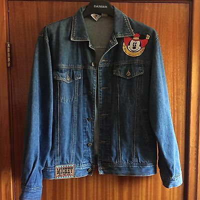 Mickey Mouse Company Cowboy Denim Jacket Large L Vintage Walt Disney
