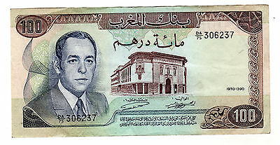 Morocco 100 Dirhams 1970 Pick 59 VF Circulated Banknote