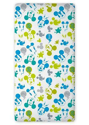 Disney MICKEY MOUSE Club House 02 SINGLE FITTED SHEET 90cm x 200cm 100% COTTON.