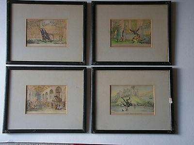 Four, Antique, Dr Syntax  Prints by Thomas Rowlandson, mounted & framed