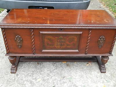 Antique Vintage RARE Genuine RED CEDAR 1920's Wood Furniture Hope Chest