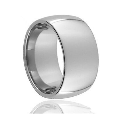 Tungsten Carbide Silver Mens Ring 14mm Wide New UK R036