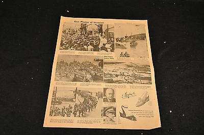 Los Angeles Evening Herald Express - June 6, 1944 - Pg. A-3 - Invasion Photos
