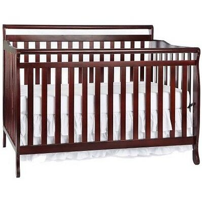 Convertible Crib 5-in-1 Nursery Furniture Liberty Toddler Bed Bedroom Baby Solid