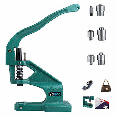 Press Punch Machine 3 Die Grommet 6/10/12mm Eyelet Hand Tool Kits Banner Local