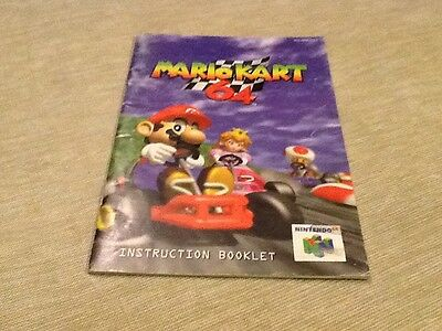Mario Kart N64 Instruction Booklet Only