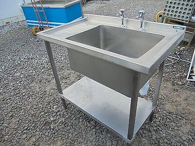 Commercial Catering Stainless Steel Single Left Hand Drainer Sink K4252