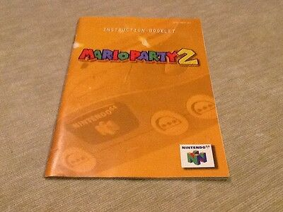 Mario Party 2 N64 Instruction Booklet Only
