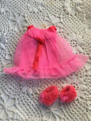 Vintage Barbie DOLL Fashion #3403 BABY DOLL PINKS Nightie & Slippers Tagged