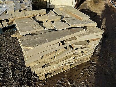 Natural Yorkshire Stone - Riven Crazy Paving - 1 Ton