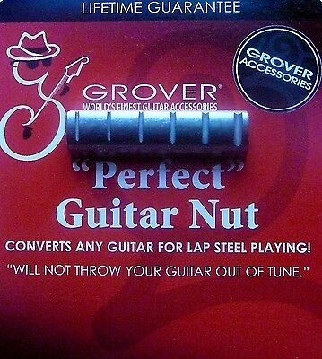 Grover Perfect Guitar Nut Fits over your nut, raise action, Slide playing