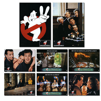 Ghostbusters II Set of 16 German Lobby Cards (LOB29)