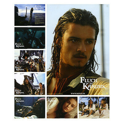 Pirates of the Caribbean Set of 8 German Lobby Cards (LOB10)
