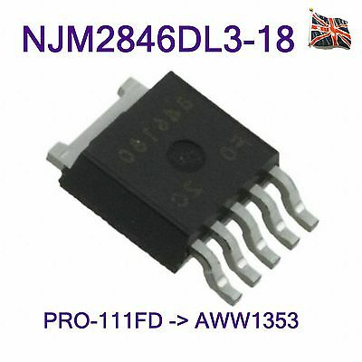 NJM2846DL3-18 INTEGRATED CIRCUIT - IC REG LDO 1.8V 0.8A TO-252-5 UK Stock