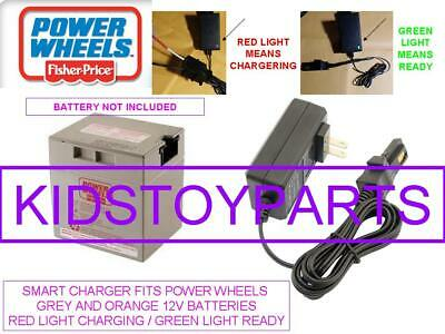 Battery Charger For All The Wheels 12v Volt Grey And Orange Top Batteries