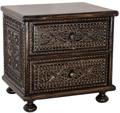 Chest Cabinet Antique Style Bedside Table China Furniture Thai 2 Drawers 53Cm '4