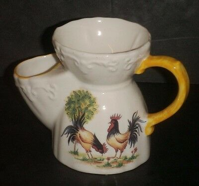 Welsh Pottery - Jenny Phillips Of Wales  -  Shaving Mug -Cockerel Pattern