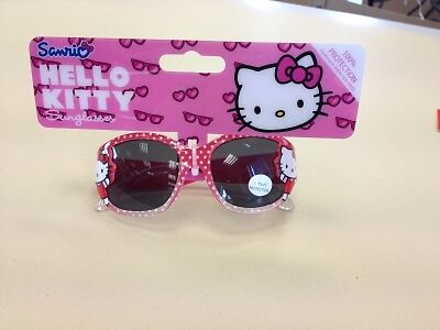 x2 HELLO KITTY Pink Sunglasses 100% UV Protection 1Pink 1Black