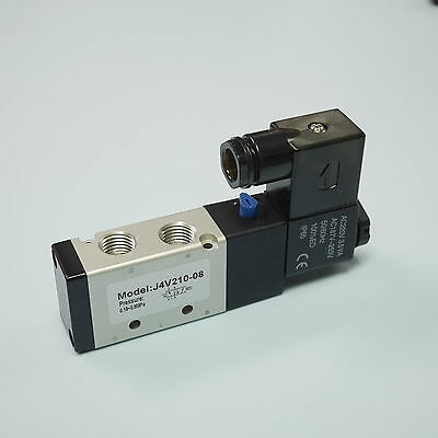 "1/4"" 5/2 Way Electric Control Solenoid Valve Single Coil 4V210-08(NPT)-DC24V"