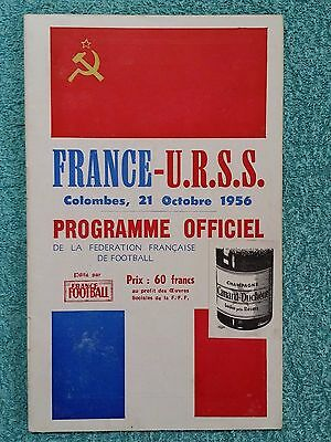 1956 - FRANCE v RUSSIA (U.S.S.R) PROGRAMME - INTERNATIONAL FRIENDLY