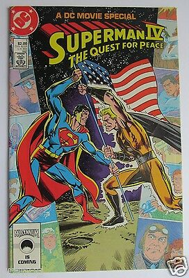 1 Superman IV Quest For Peace Comic 1987 - V/F DC Movie Special