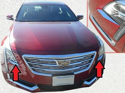 FITS CADILLAC CT6 2016-2018 STAINLESS CHROME REAR TRUNK UPPER ACCENT TRIM 2PCS