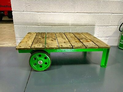 Vintage Oil can Barrel Trolley  Castrol ,  Man Cave , Games Room , Coffee Table