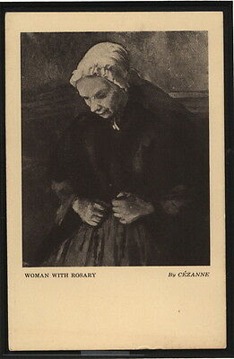 "Armory Show New York 1913. Original Postcard. Cézanne, Paul. ""Woman with Rosary"""