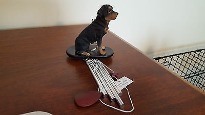 Rottweiler Dog Wind Chimes New In Box