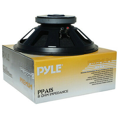 Woofer Home Pyle Ppa15 38,00 Cm Nero Casa Home 8 Ohm Impedenza 800 Watt Max Casa