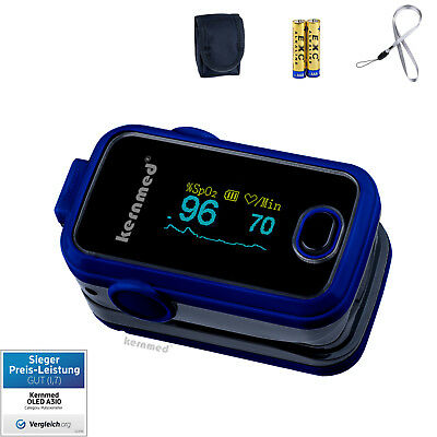 Kernmed OLED Finger Pulse Oximeter A310 +Alarm+Beep+Colour choice+Accessory