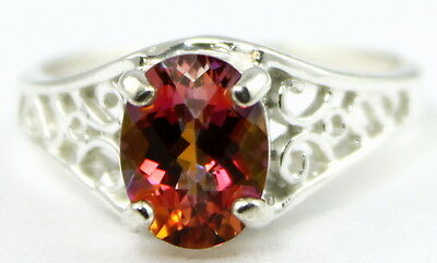 Twilight Fire Topaz, 925 Sterling Silver Ladies Ring,SR005-Handmade