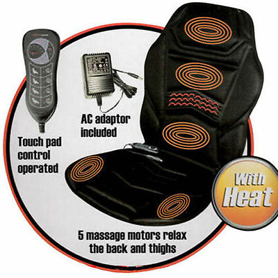 Electric Massage Seat Chair Full Body Massager Heated Back Heating Pain Relief