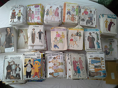 +200 Vintage Sewing Patterns Vogue Simplicity Butterick McCall Craft Costume Vtg