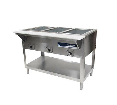 "Radiance RST-3P 44"" Electric S/s Hot Food Steam Table w/ 3 Top Openings"