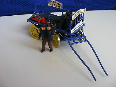 Coal Man with Sack, Cart, Sacks, Scales & Weights - 1:43 Finished Metal Model