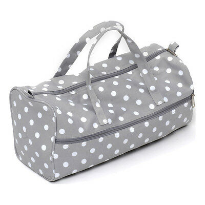 NEW HobbyGift MR4698/137 | Value Knitting Bag Matt Grey Spot | FREE SHIPPING