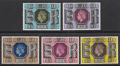 SG1033-1037 1977 SILVER JUBILEE 5v Unmounted Mint