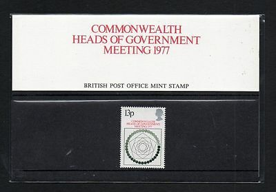 PRESENTATION PACK SG1038 1977 HEADS OF GOVERNMENT 1v Unmounted Mint