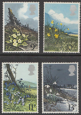 SG1079-1082 1979 FLOWERS 4v Unmounted Mint
