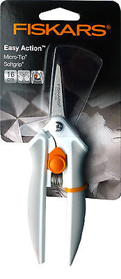 NEW | Fiskars F2921 | Easy Action Softgrip Micro Tip Scissors | 16cm | FREE POST