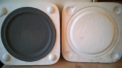 Ceramic Slip Casting Tampa Boy Mold Childs Loverly Detailed Plate 8 1/2' Or 21Cm